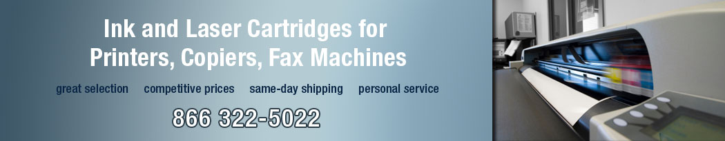 ink and laser cartridges for pinters, copiers and fax machines